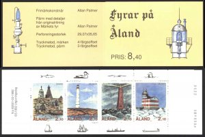 Finland Aland Islands Sc# 67a MNH Booklet 1992 2.10m Lighthouses