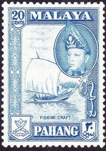 MALAYA PAHANG 1957 20c Blue SG82 MH