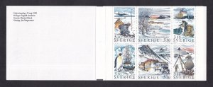 Sweden   #1749a-1754a   MNH  1989  booklet  polar expeditions
