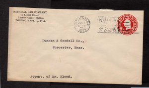 MA National Can Co Company Boston Massachusetts Stamp Cover Advertising 1929