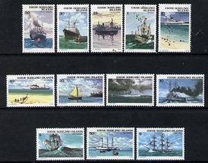 Cocos (Keeling) Islands 1976 Ships set of 12 unmounted mi...