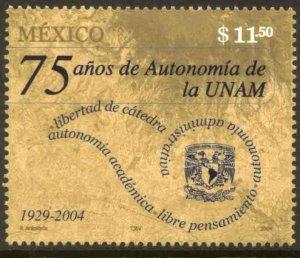 MEXICO 2359, AUTONOMY OF NATIONAL UNIVERSITY, 75th ANNIVERSARY. MINT, NH. VF.