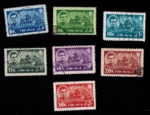 IRAN SCOTT 1216-1222 USED NOT A COMPLETE SET SET OF SEVEN F-VF 1962