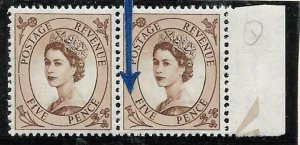 S99b 5d Wilding Tudor Crown variety - spot on daffodil UNMOUNTED MINT