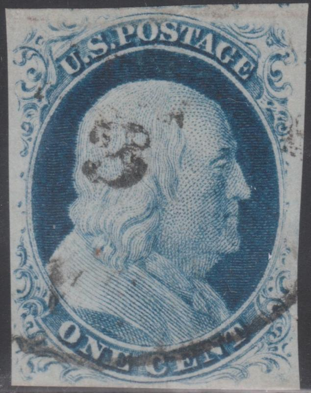 #9 USED W/ SMALL TEAR AT LOWER RIGHT; XF+ (APP.) WITH PSE CERT CV $110.00 BN7646