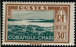 Ubangi-Shari Postage Due (Sc J16) F-VF Mint OG hr..French Colonies are Hot!