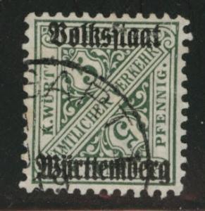Germany State Wurttemberg Scott o152 Used