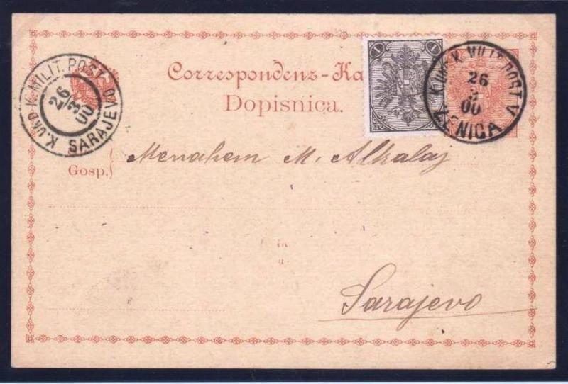 AUSTRIA BOSNIA  1900. mixed currency florin and crown ZENICA  ..see description
