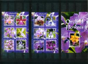 Eritrea - ORCHID FLOWERS - 2 Sh + S/S imperf. MNH