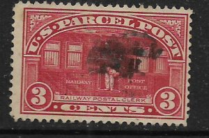 US Q3  USED,  RAILWAY POSTAL CLERK