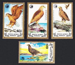 Mongolia Birds White-tailed Sea Eagle 4v SG#1963-1966 SC#1700-1703