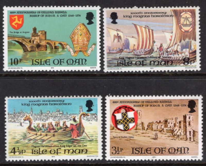 Isle of Man 44-47 MNH VF