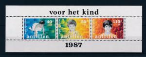 [NA878] Netherlands Antilles Antillen 1987 Childrens Welfare Souvenir Sheet MNH