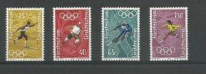 Liechtenstein 1971 Winter Olympics , Sapporo Unmounted Mint Set SG 539/42