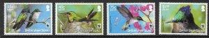BRITISH VIRGIN ISLANDS SG1278/81 2014  HUMMINGBIRDS MNH