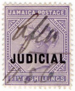 (I.B) Jamaica Revenue : Judicial 5/- (1898)