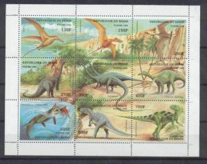 Benin 1085 MNH m/s Dinosaurs SCV11