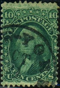 U.S. #68 Used New York Postmark