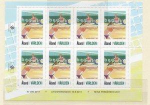 Aland Finland Sc  321 2011 Beach Volleyball stamp sheet mint NH