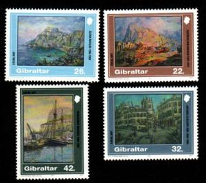 GIBRALTAR 1991 ,Painting # 596-599 MNH set