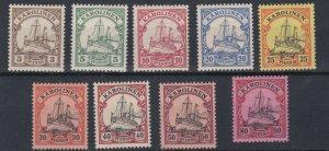 CAROLINE ISLAND 1901   S G 13 - 21    3PF  TO 80PF     MNH  & MH