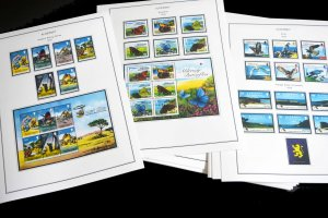 COLOR PRINTED ALDERNEY 1983-2018 STAMP ALBUM PAGES (80 illustrated pages)