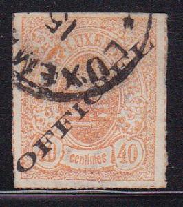 Luxembourg 1875 40c I pale orange Scott Nr.O9. Fine/VF/Used/(O).