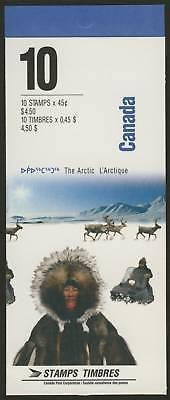 Canada 1578b Booklet MNH The Arctic, Aircraft, Dogs, Flowers, Boat