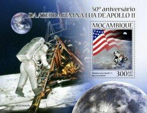 Z08 IMPERF MOZ190420b MOZAMBIQUE 2019 Apollo 11 MNH ** Postfrisch
