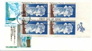US FDC #1453 Yellowstone Zip Block, Jackson (1929)