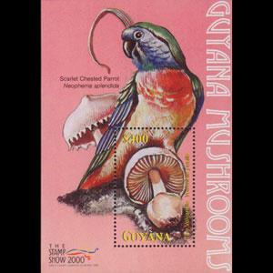 GUYANA 2000 - Scott# 3521 S/S Mushrooms NH