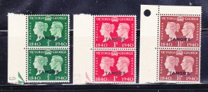 Great Britain Offices In Morocco 518-520 Pairs Set MNH, Tangier (B)
