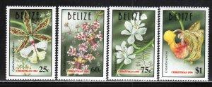 Belize # 1071-74 ~ Cplt Set of 4 ~ Orchids ~ Unused, HMR