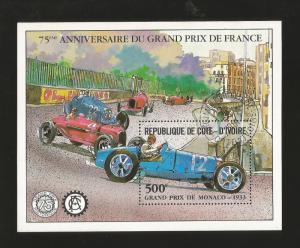 A) 1981 IVORY COAST, GRAND PRIX DE MONACO 1933, FRANCE, CAR RACE, PEOPLE, SOUVEN