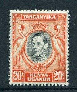 Kenya Uganda Tanganyika 1938 KGVI 20c p13¼ SG 139 mint