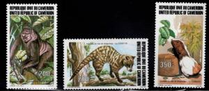 Cameroun Scott 746-748 MNH** 1983 wildlife set
