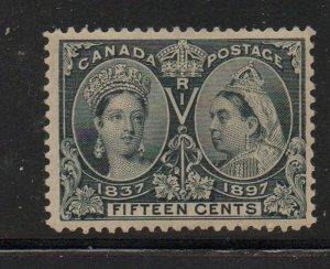 Canada Sc 58 1897 15c steel blue Victoria Jubilee stamp mint