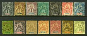 FR GUIANA #32//49  great early issue, nice   (MINT HINGED & USED) cv$194.00