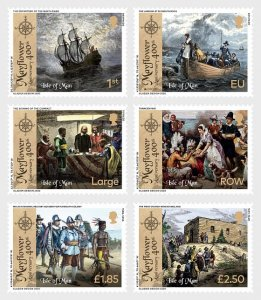 Isle of Man 2020 The 400th Anniversary of the Mayflower 6v MNH