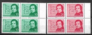 COLLECTION LOT #728 GERMANY EAST #303-4 2 BLOCKS OF 4 1956 CV=$28