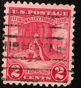 645 Washington at Prayer, Circulated single, NH, Vic's Stamp Stash