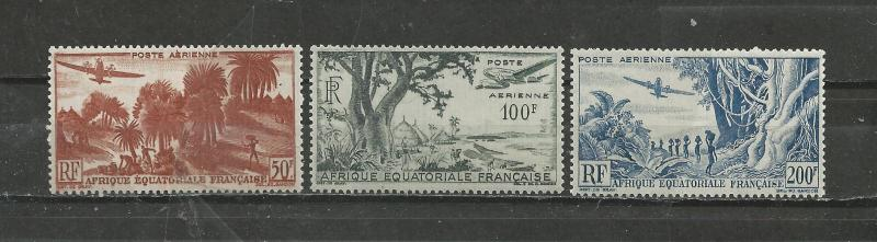 French Equatorial Africa Scott catalogue #C31-C33