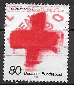 Germany 1988 80pf Red Cross, used, Scott #1563
