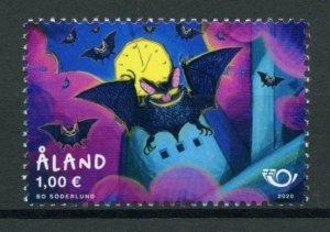 Aland Wild Animals Stamps 2020 MNH Bats Nordic Flying Mammals 1v Set