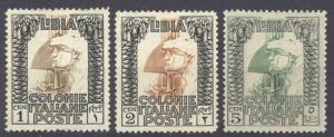 Libya Sc# 20-22 MH 1921 1c-5c Roman Legionary