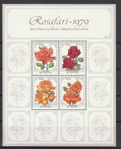 South Africa MNH S/S Roses Rosafari 1979
