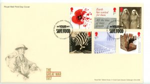 Great Britain 2017 FDC  Great War 19917 Save Food Cancel  Sc# 3632-3637