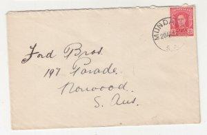 SOUTH AUSTRALIA, MUNDALLA cds, 1942 cover, KGVI 2 1/2d. Red.