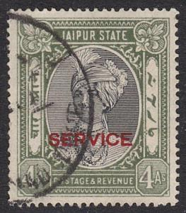 INDIA JAIPUR 1932-37 OFFICIAL 4a SG020 fine used...........................55294