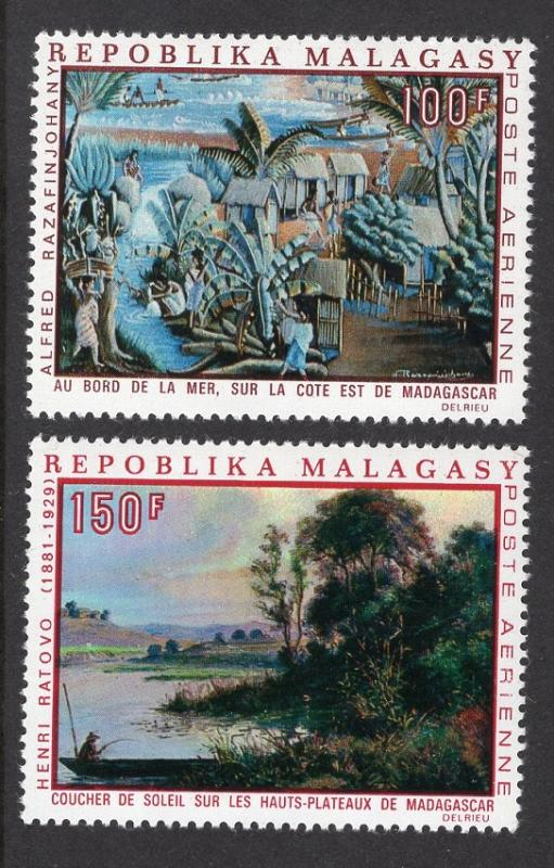 Malagasy Republic   #C93-C94  MNH  1969  paintings